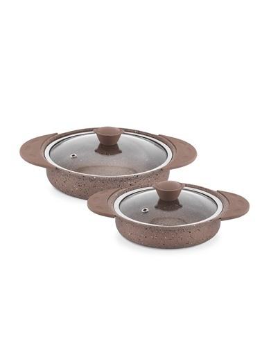 Schafer Terra 4 Parça Granit Sahan Set Kahverengi Kahve
